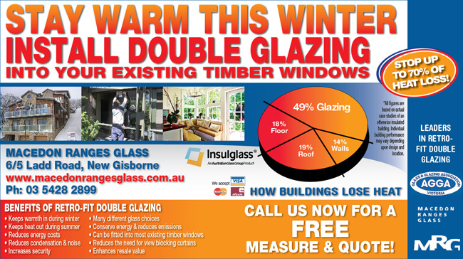 Macedon Ranges Glass - Double Glazing Advertisement